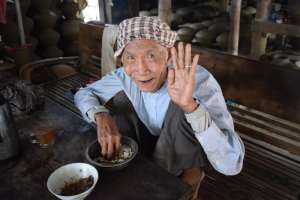 90 year old bean maker