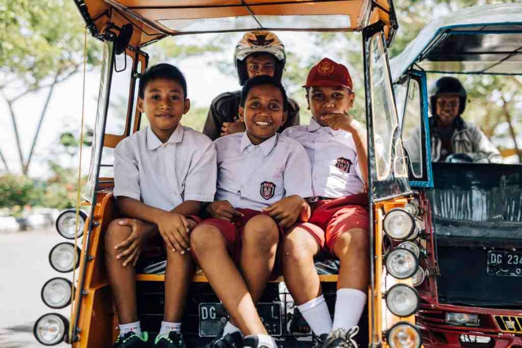 Kids in North Maluku
