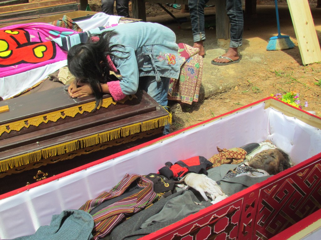 Coffins containing preserved dead, Tana Toraja