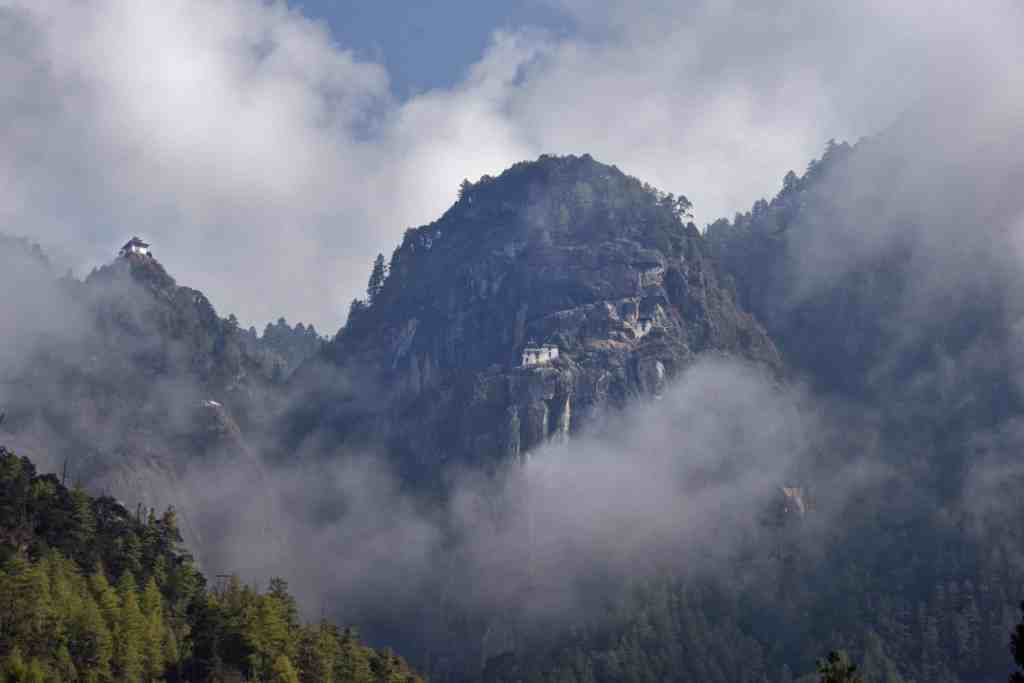 Hills and Tigers Nest Monastery in Bhutan