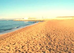 Playa Cavaió en Arenys de Mar
