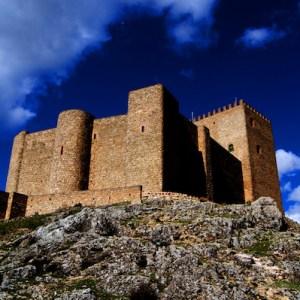 Vista desde la roca del Castillo de Segura de la Sierra en la provincia de Jaén
