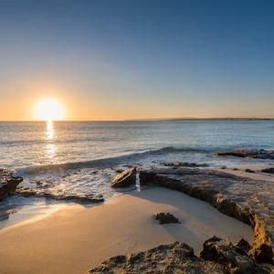Playa Es Figueral en Santa Eulalia en Ibiza
