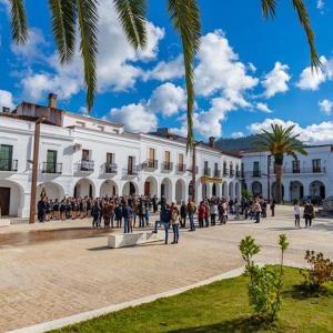 La plaza de España en Herrera del Duque