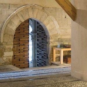 Entrada al museo de Tudela en Navarra