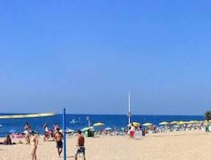 Playa de Garbí en Calella