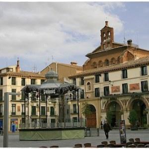 La plaza de los Fueros en Tudela