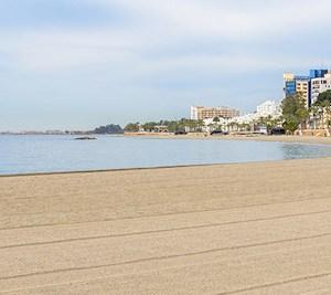 La playa de Aguadulce en Roquetas de Mar