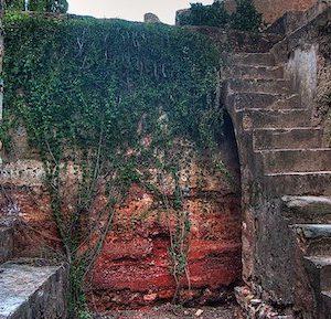 Restos de la alcazaba en Badajoz en Extremadura