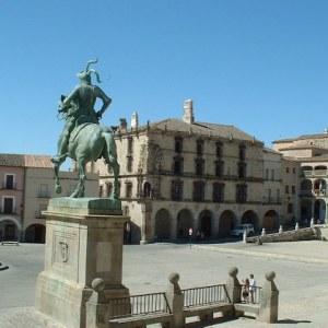 La estatua de Francisco Pizarro en Trujillo