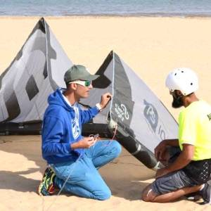 Bautismo de kitesurf en Sanlúcar de Barrameda
