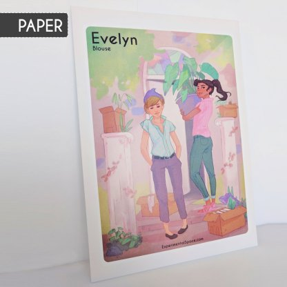 Evelyn Blouse Sewing Pattern : Paper Version
