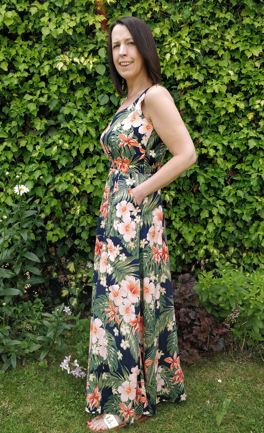 Rosalee Maxi Dress - Experimental Space Patterns
