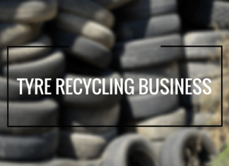 tires recycling businee plan india