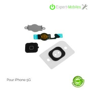 Bouton home complet pour iPhone 5 noir