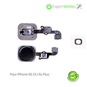 Bouton HOME pour iPhone 6S NOIR (compatible iPhone 6S Plus)