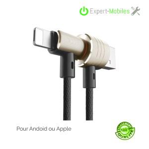 Cable de charge en T OR magnétique compatible android ou apple Baseus