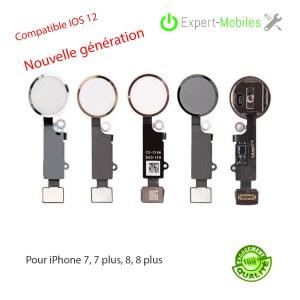 Nappe bouton HOME de remplacement pour iPhone 7 – 7 Plus – 8 – 8 PLUS IOS 12 Nouvelle génération