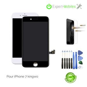 ECRAN LCD + VITRE TACTILE IPHONE 7 NOIR OU BLANC PREMIUM PLUS KW