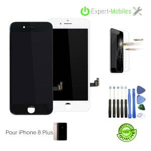 Ecran LCD + Vitre tactile iPhone 8 PLUS QUALITE STANDARD NOIR OU BLANC