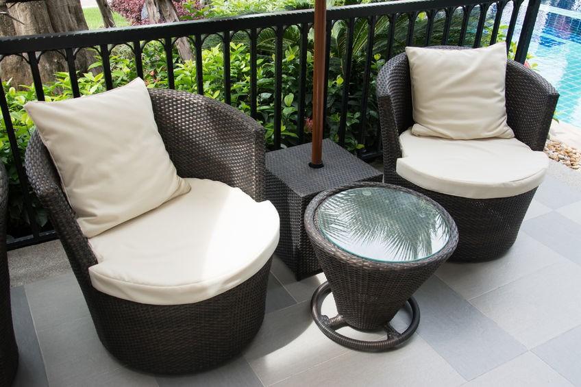 Rattan Balkonmöbel für Outdoor (Polyrattan)