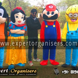 Goofy, Snow White, Minion, and Super Mario Cartoon Costume on Rent in Chandigarh, Mohali, Panchkula, Zirakpur, Kharar.