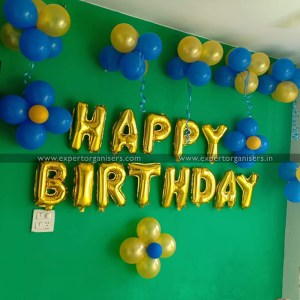 Balloon Decoration on Single Wall of Room in Chandigarh, Mohali, Panchkula, Zirakpur