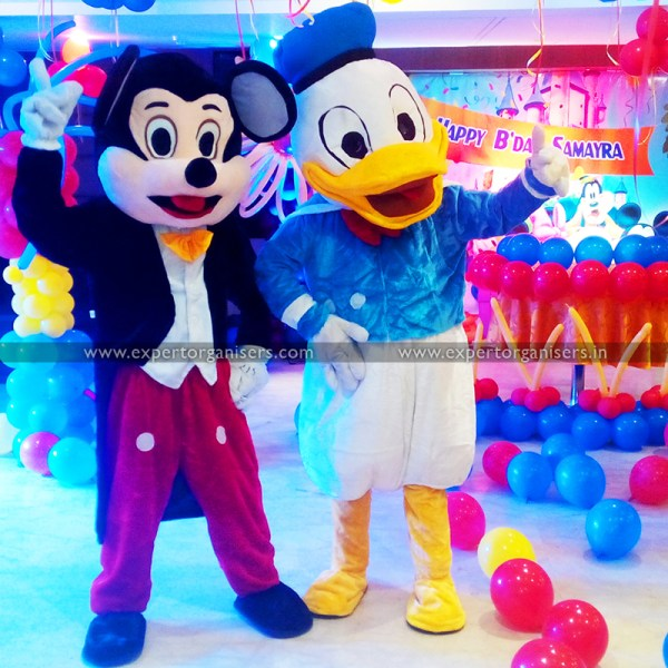 Mickey Mouse and Donald Duck Cartoon Costumes on Rent in Chandigarh Mohali Panchkula