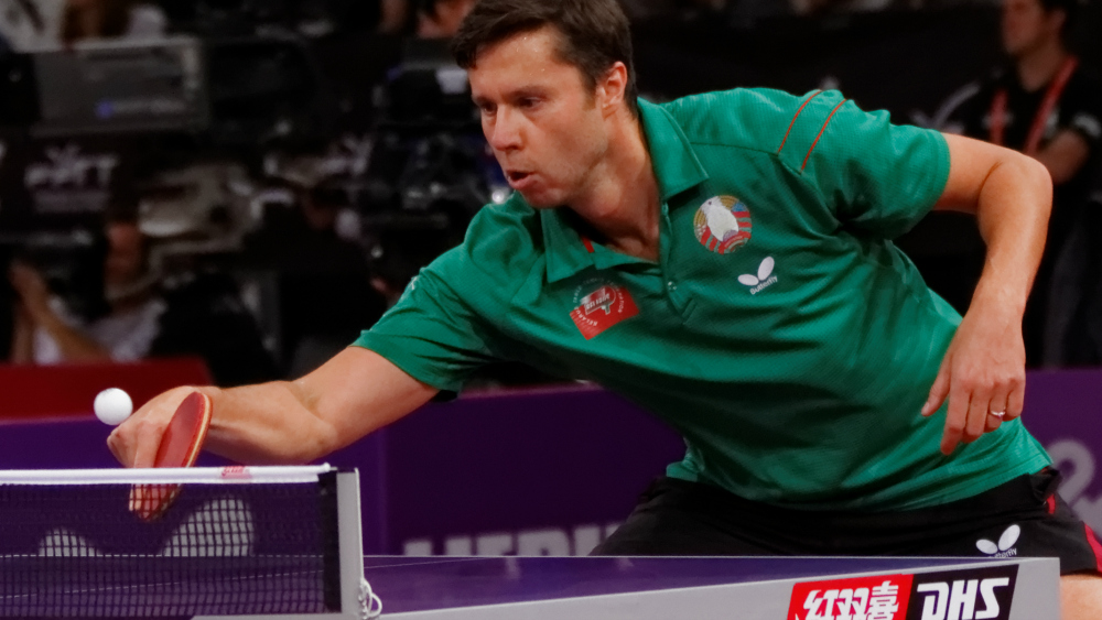 backhand push in table tennis