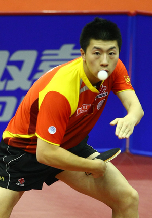 Backhand Loop Ma Long