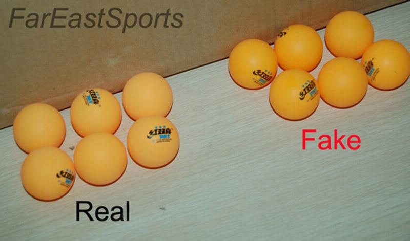 fake table tennis balls dhs 3-star