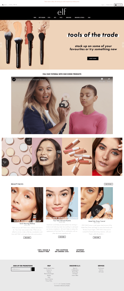 Beauty and Cosmetics Websites