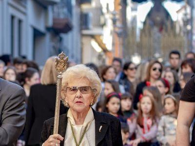 """Isabel Álvares Muela """"Isabelita"""", vestidora de Ntra. Sra. de la Esperanza."""