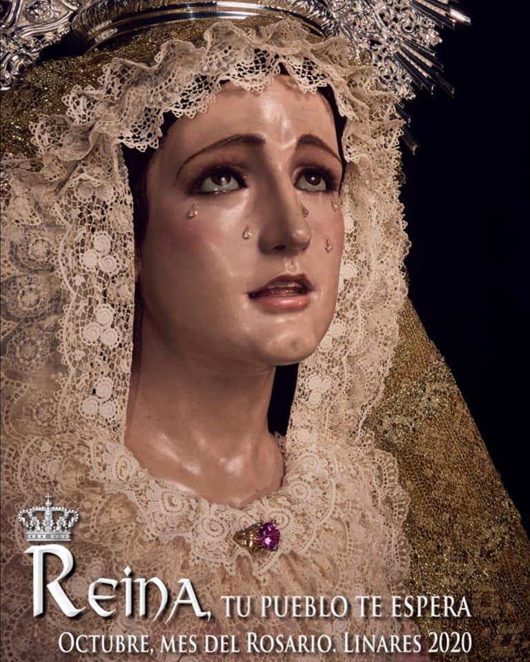 Felicitación por la onomástica hacia la Virgen del Rosario.