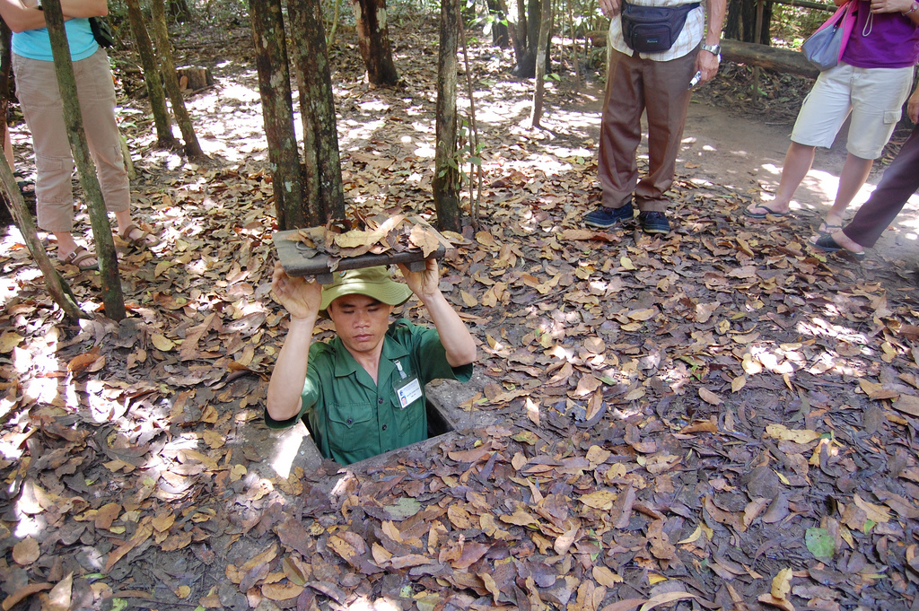 Visit the Cu Chi Tunnels, but you must be brave! Photo credit: Lim Ashley via Flickr CC