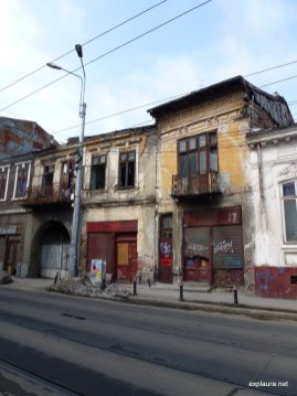 A house behind the main road through town: many remain abandoned thanks to contentious ownership.