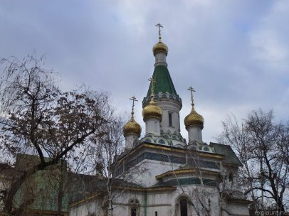 The top of the Russian church.