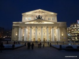 The Bolshoi Theatre. I love how the buildings here are lit up at night, it's stunning!