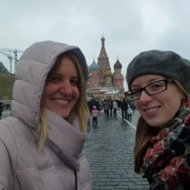 Rach and I, being super-in-Red-Square.