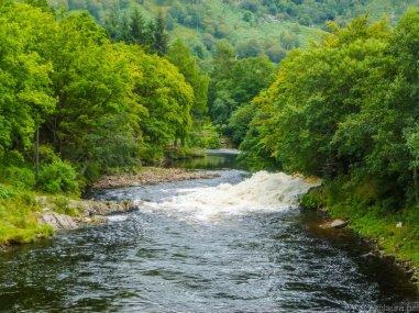 The river at Kinlochleven--just near the Wee Charity Shop, where you can buy the best cake in the whole world!