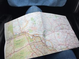 Jess is a most excellent navigator. We even bought a map!