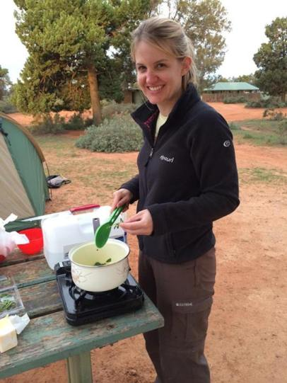 Me preparing the sage butter sauce :)