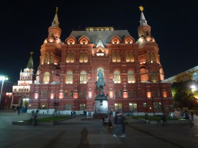 The front of Moscow's historical museum at night-time. I love it. (Completely untouched, because apparently I'm lazy. And yes, this *does* look a lot like a photo I took last time!)