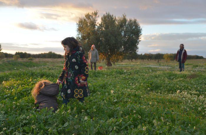 la famille de corinne et basset dans la ferme