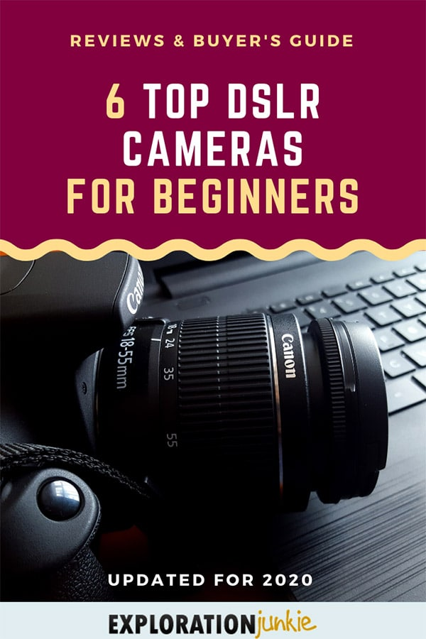 DSLR for beginners Pinterest image