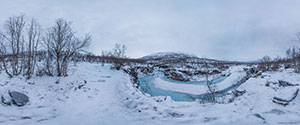 Abisko Canyon to Lake Tornetrask