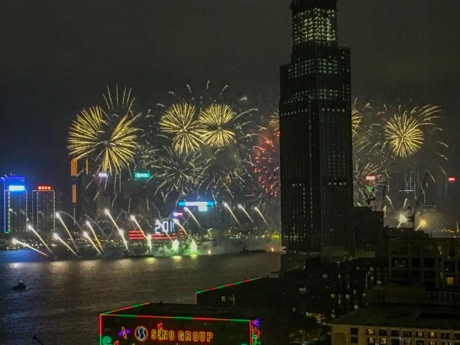 Silvester Hong Kong Feuerwerk