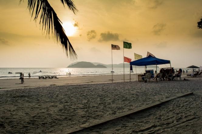 Sonnenuntergang am Cenang Beach
