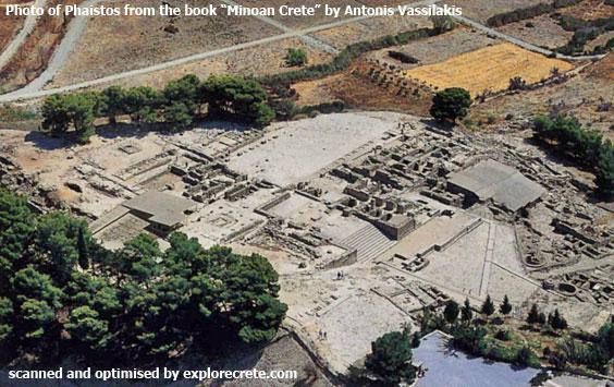 Phaistos Minoan Palace, aerial photo