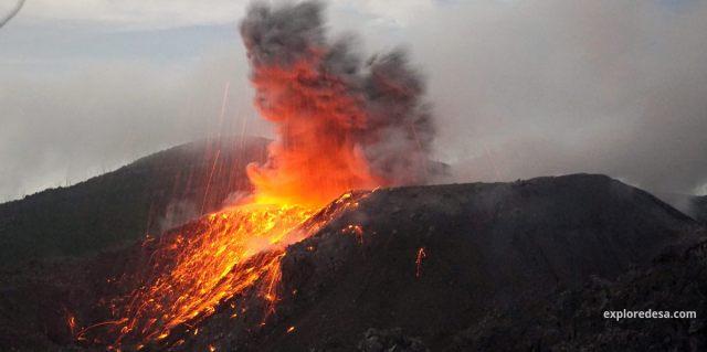 Mount Ibu (Indonesian: Gunung Ibu) is a stratovolcano located at the northwest of Halmahera Island.